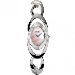 Seksy Entwine Pink Dial Stainless Steel Bracelet Ladies Watch 4281