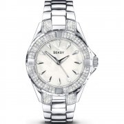 Seksy Intense white dial stainless steel bracelet Ladies watch 4522