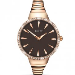 Seksy Radiance Brown Dial Rose Gold Bracelet Ladies Watch 2219