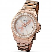 Seksy Rose Gold Dial Stainless Steel Bracelet Ladies Watch 4655