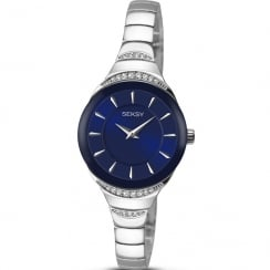 Seksy Sapphire Blue Dial Stainless Steel Bracelet Ladies Watch 2293