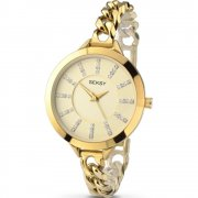 Seksy Embrace Champagne Dial Gold Bracelet Ladies Watch 2071