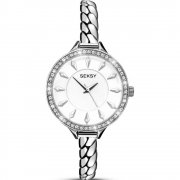 Seksy Embrace White Dial Stainless Steel Bracelet Ladies Watch 2070