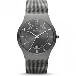 Skagen  grey dial stainless steel mesh Mens watch 233XLTTM