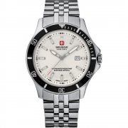 Swiss Military Flagship white dial stainless steel bracelet Mens watch 6-5161.7.04.001.07