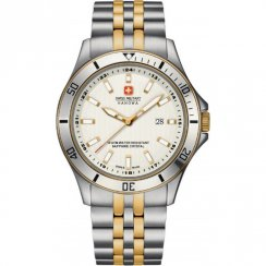 Swiss Military Flagship white dial stainless steel bracelet Mens watch 6-5161.7.55.001
