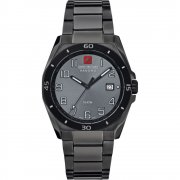 Swiss Military Guardian black dial stainless steel bracelet Mens watch 6-5190.30.009