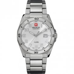 Swiss Military Guardian silver dial stainless steel bracelet Mens watch 6-5190.04.001