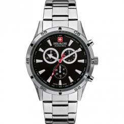 Swiss Military Oppurtunity black dial chronograph stainless steel bracelet Mens watch 6-8041.04.007
