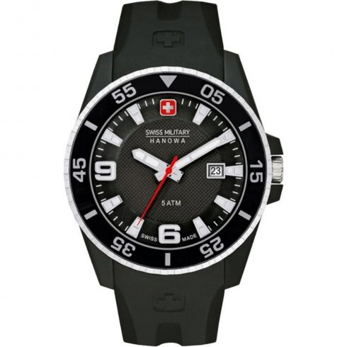 Swiss Military Ranger black dial rubber strap Mens watch 6-4200.27.007.07