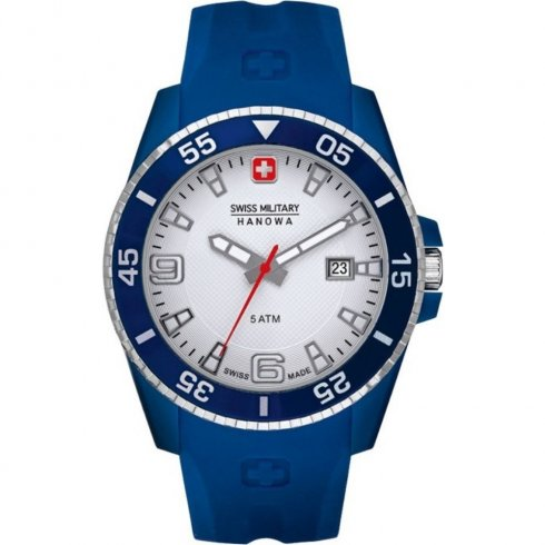 Swiss Military Ranger white dial rubber strap Mens watch 6-4200.23.001.03