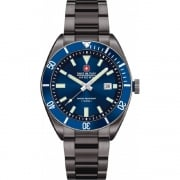Swiss Military Skipper Blue Dial IP Black Bracelet Gents Watch 6-5214.30.003