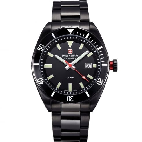 Swiss Military Skipper IP Black Bracelet Gents Watch 6-5214.13.007
