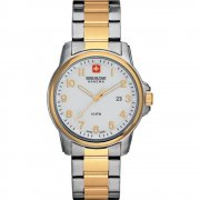 Swiss Military Soldier white dial stainless steel bracelet Mens watch 6-5141.55.001