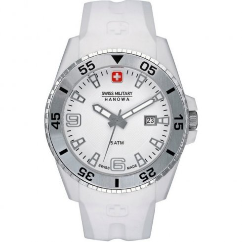 Swiss Military Ranger White Dial Rubber Strap Mens Watch 6-4200.21.001.01