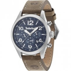 Timberland Ashmont Navy Dial Brown Leather Strap Gents Watch 15249JS/03