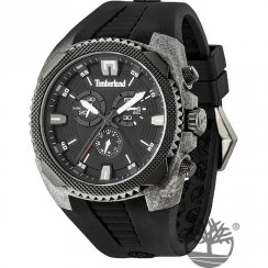 Timberland Bridgton black dial chronograph rubber strap Mens watch 13851JPGYB-02