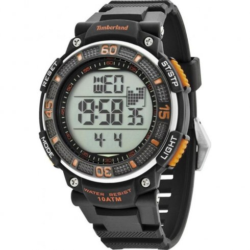 Timberland Cadion Digital Chronograph Black Resin Strap Mens Watch 13554JPB-04