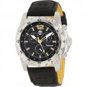 Timberland Front Country Chronograph Black Leather Strap Mens Watch 13318JS-02A