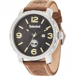 Timberland Pinkerton Black Dial Brown Leather Strap Gents Watch 14399XS/02