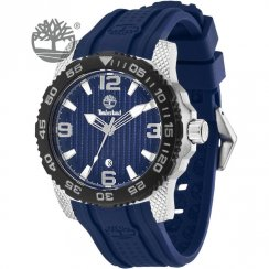 Timberland Sandown blue dial rubber strap Mens watch 13613JSSB-03