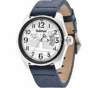 Timberland Sherington White Dial Blue Leather Strap Gents Watch 13679JLTB-04
