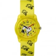 Timex Analog x Peanuts Snoopy Woodstock Yellow Fabric Strap Kids Watch TW2R41500