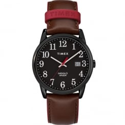 Timex Classic Black Dial Brown Leather Strap Gents Watch TW2R62300