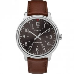 Timex Classic Black Dial Tan Leather Strap Gents Watch TW2R85700