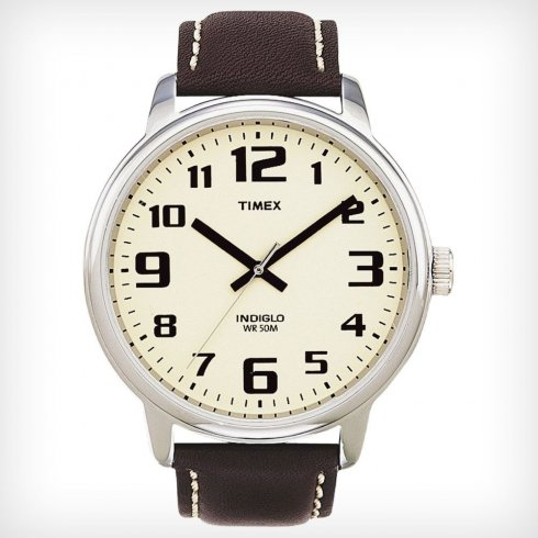 Timex Classic cream dial leather strap Mens watch T28201