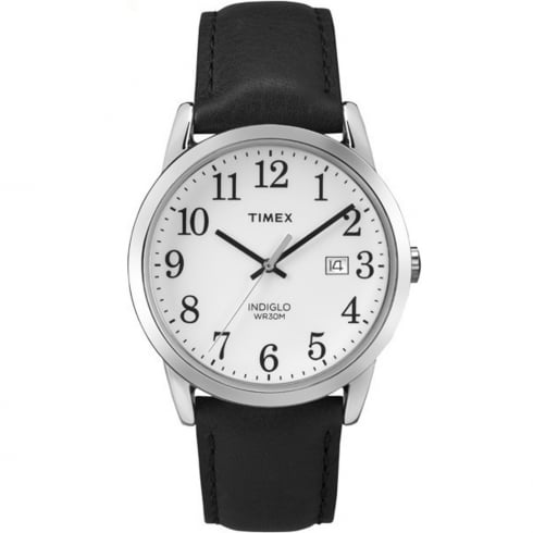 Timex Classic Easy Reader White Dial Black Leather Strap Gents Watch TW2P75600