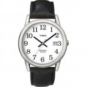 Timex Classic White Dial Black Leather Strap Gents Watch T2H281