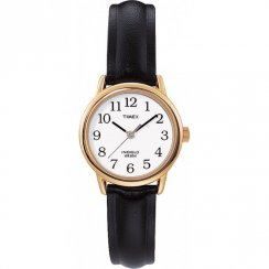 Timex Classic White Dial Black Leather Strap Ladies Watch T20433