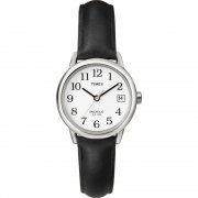 Timex Classic White Dial Black Leather Strap Ladies Watch T2H331