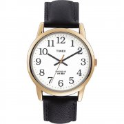 Timex Classic White Dial Black Leather Strap Mens Watch T20491