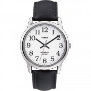 Timex Classic White Dial Black Leather Strap Mens Watch T20501