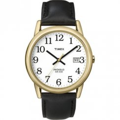 Timex Classic White Dial Black Leather Strap Mens Watch T2H291