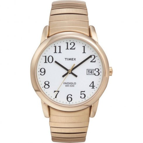 Timex Classic White Dial Gold Expander Gents Watch T2H301