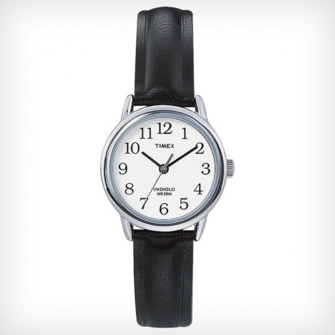 Timex Classic white dial leather strap Ladies watch T20441