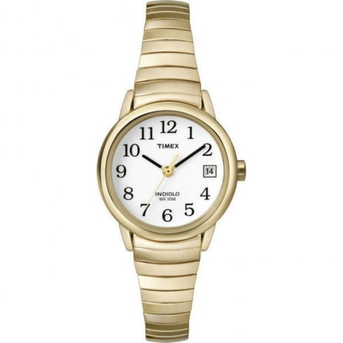 Timex Classic white dial stainless steel expander Ladies watch T2H351
