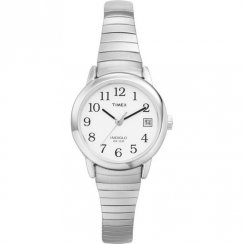 Timex Classic white dial stainless steel expander Ladies watch T2H371