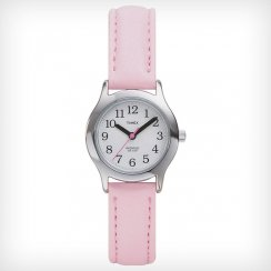 Timex Easy Reader White Dial Pink Leather Strap Kids Watch T79081