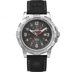 Timex Expedition Black Dial Black Leather Strap Gents Watch T49988