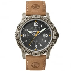 Timex Expedition Black Dial Tan Leather Strap Gents Watch T49991