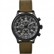 Timex Expedition Chronograph Black Dial Leather Strap Gents watch T49938