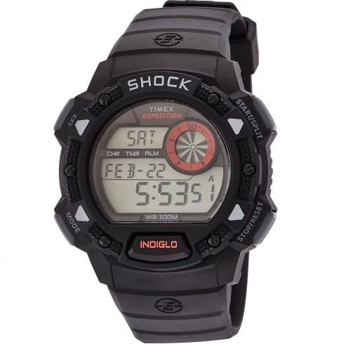 Timex Expedition Digital Chronograph Black Resin Strap Gents Watch T49977