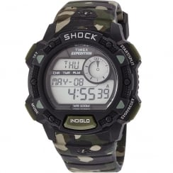 Timex Expedition Digital Chronograph Camouflage Resin Strap Gents Watch T49976
