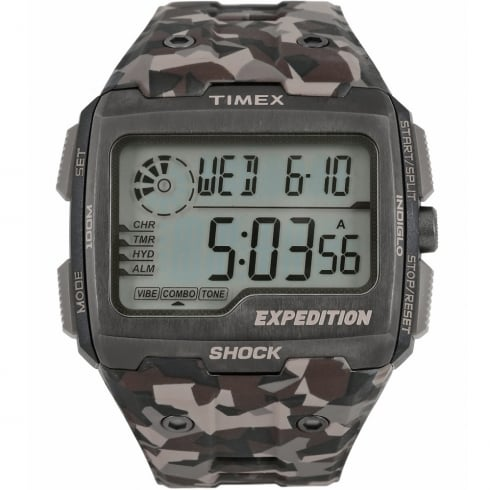 Timex Expedition Grid Shock Digital Chronograph Camouflage Strap Gents Watch TW4B07300