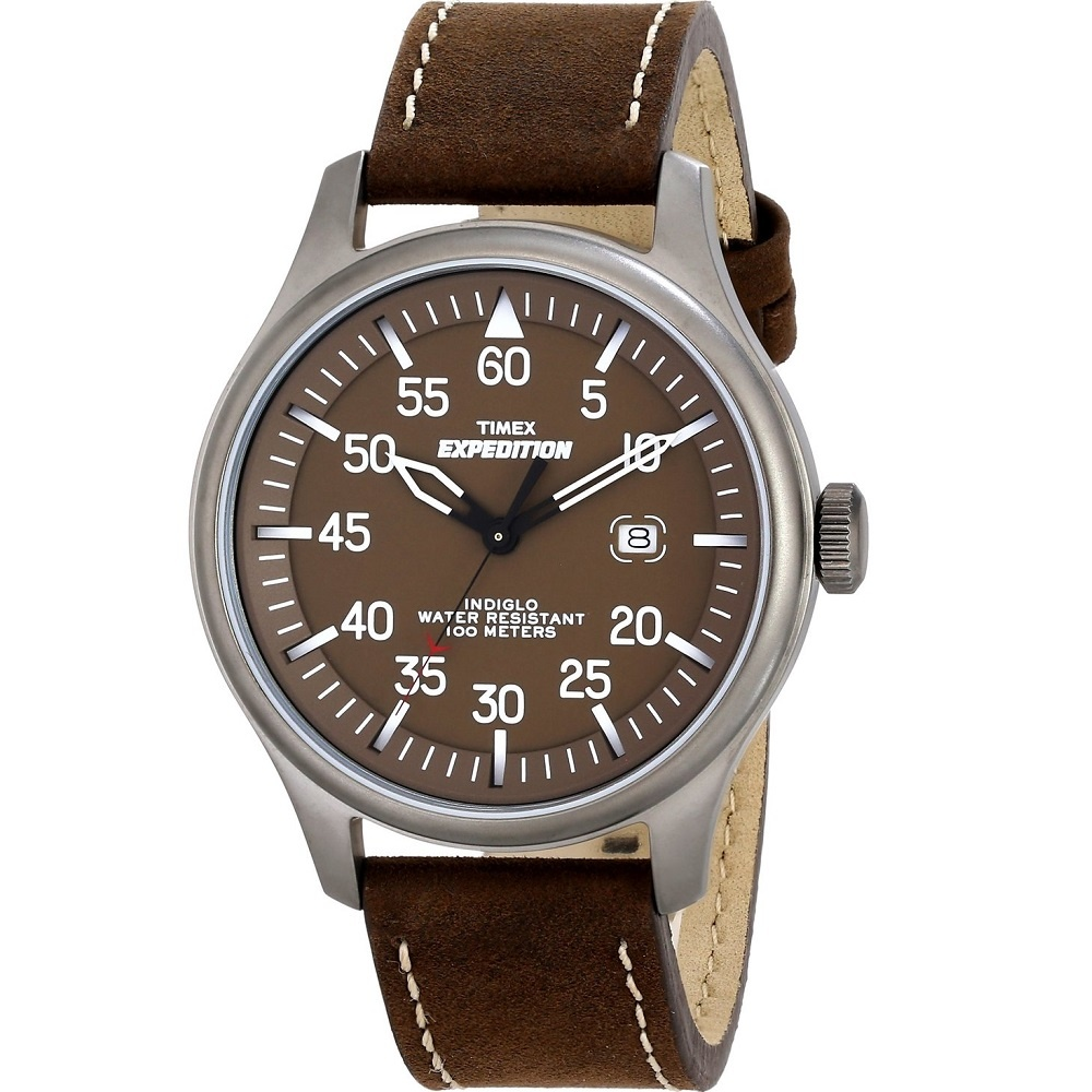 b700d322929b Timex Expedition Military Field Brown Strap Gents Watch T49874