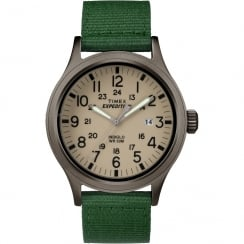 Timex Expedition Scout Beige Dial Green Nylon Strap Gents Watch TW4B06800